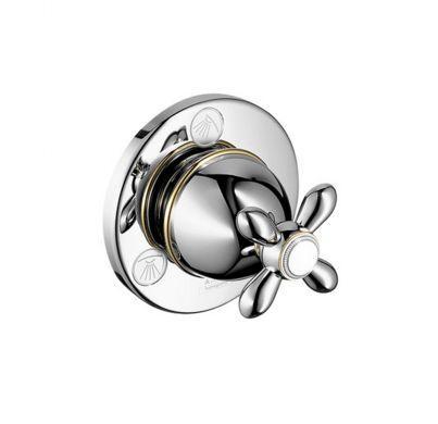 Запорный/переключающий вентиль Axor Carlton 17925090, с крестовой рукояткой, СМ, ¾'