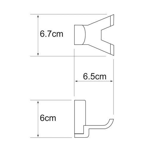 Крючок WasserKRAFT Leine K-5023, двойной