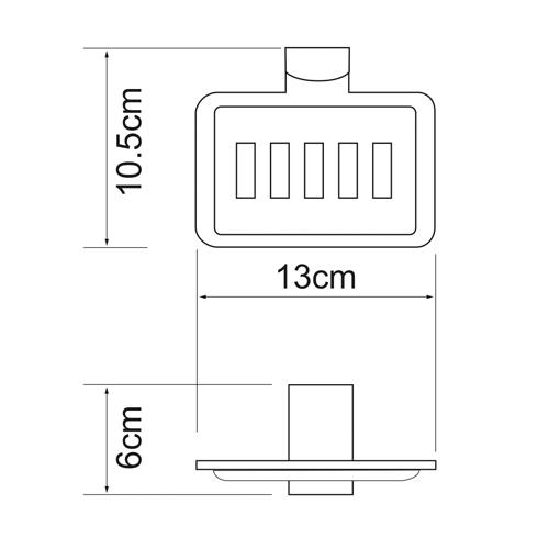 Мыльница-решетка WasserKRAFT Leine K-5069