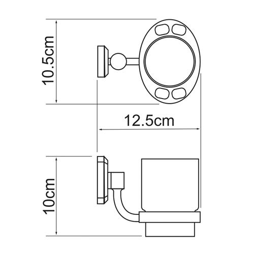 Стакан стеклянный с держателем WasserKRAFT Oder K-3028