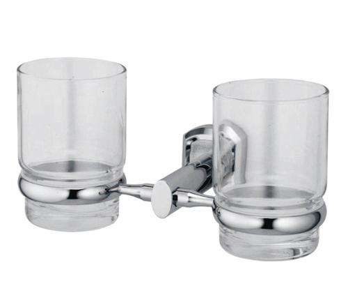 Стакан стеклянный с держателем WasserKRAFT Oder K-3028D, двойной