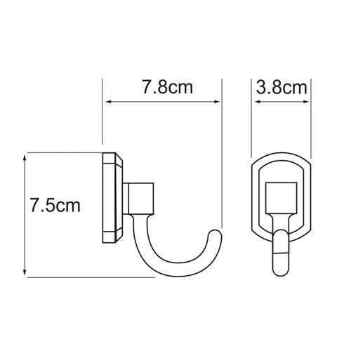Крючок WasserKRAFT Oder K-3023