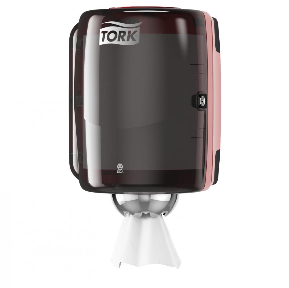 Диспенсер для бумажных полотенецTork Performance659008-06, черный/красный