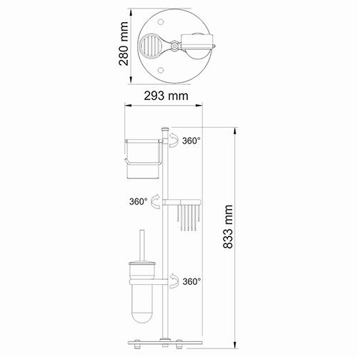 Комбинированная напольная стойка WasserKRAFT K-1256