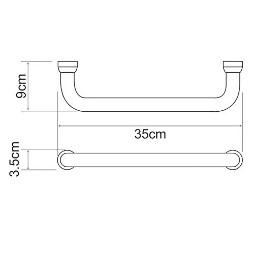 Поручень для ванны WasserKRAFT K-1066, 35 см