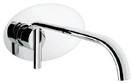Смеситель Emmevi Elly 41055 для ванны, зачищенный хром